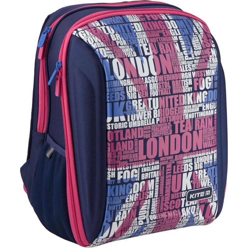 Рюкзак школьный каркасный Kite Education London K19-732S-1 (ортопедический рюкзак для девочки 6-10 лет)