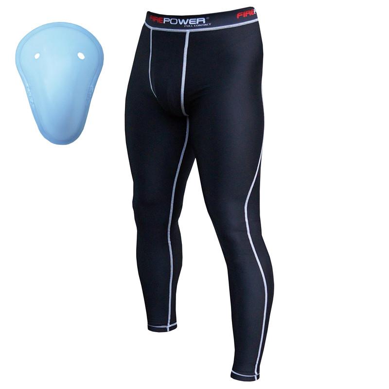 Компрессионные штаны Firepower-FPCP1-Black-White