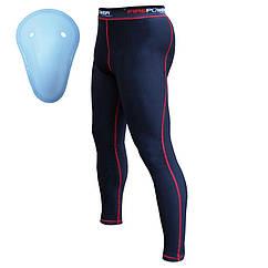 Компрессионные штаны Firepower-FPCP1-Black-Red