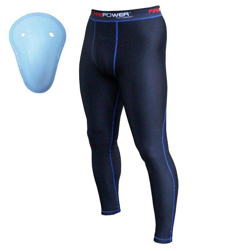 Компрессионные штаны Firepower-FPCP1-Black-Blue