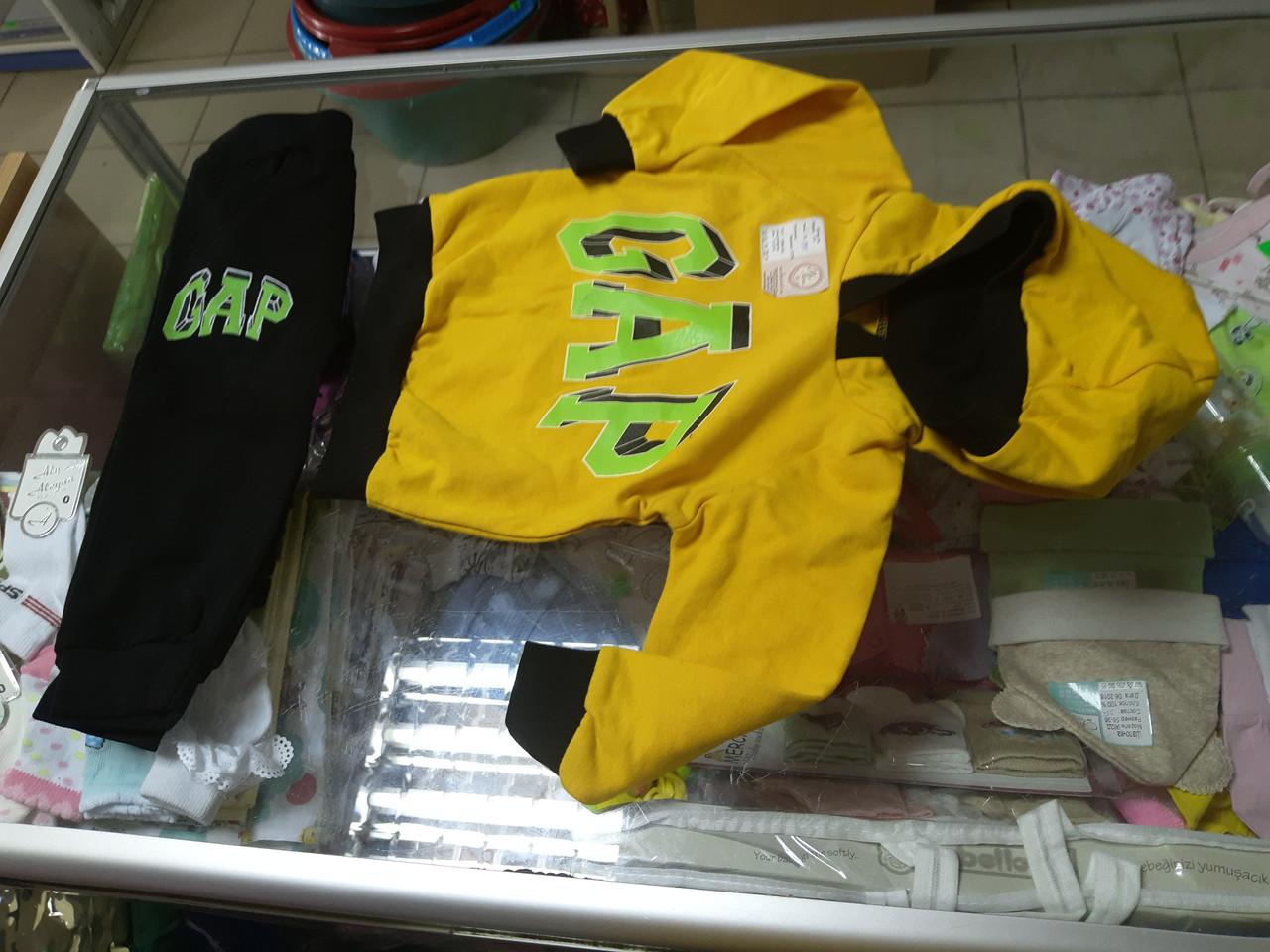 Спортивный костюм детский для малыша теплый с капюшоном GAP р.74 -98