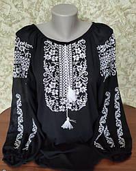 """Блуза з вишивкою """"Етніка"""" чорна"""