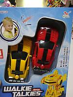 Рация детская в форме машинка трансформер желтая и красная