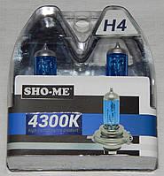 "Автомобильные галогенные лампы ""SHO-ME"" (H4)(60/55W)(+120%)(4300K)"