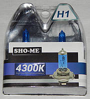 "Автомобильные галогенные лампы ""SHO-ME"" (H1)(55W)(+120%)(4300K)"