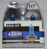 "Автомобильные галогенные лампы ""SHO-ME"" (H7)(55W)(+120%)(4300K)"