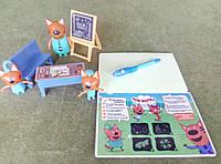 Игрушки Три кота - школьный класс + доска для рисования светом, фото 1