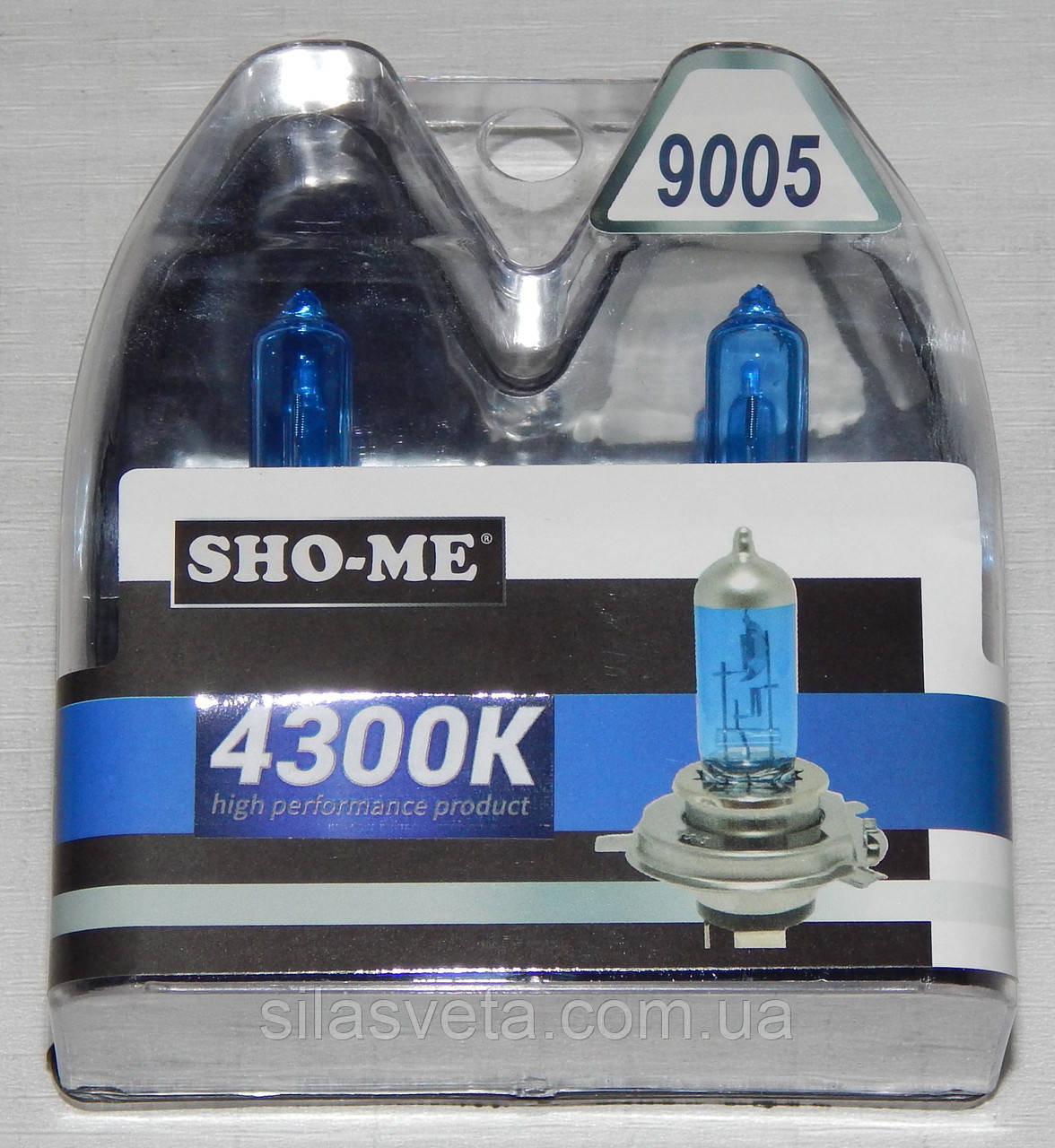 "Автомобильные галогенные лампы ""SHO-ME"" (HB3)(60W)(+120%)(4300K)"