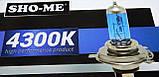 """Автомобильные галогенные лампы """"SHO-ME"""" (HB3)(60W)(+120%)(4300K), фото 4"""