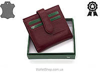 Кожаный женский картхолдер - кошелек небольшого размера c монетницей Marco Coverna