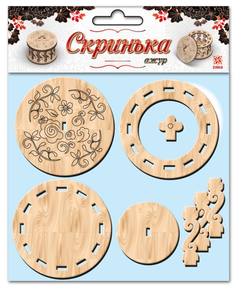 Скринька кругла для декорування