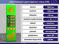 Световая рекламная стела для АЗС со светодиодными табло 5000 х 1350 мм