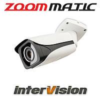 Автоматизированная видеокамера ZOOM-4X-WIDE  interVision 3Mp 8-120° самонастраиваемая ИК 80 метров