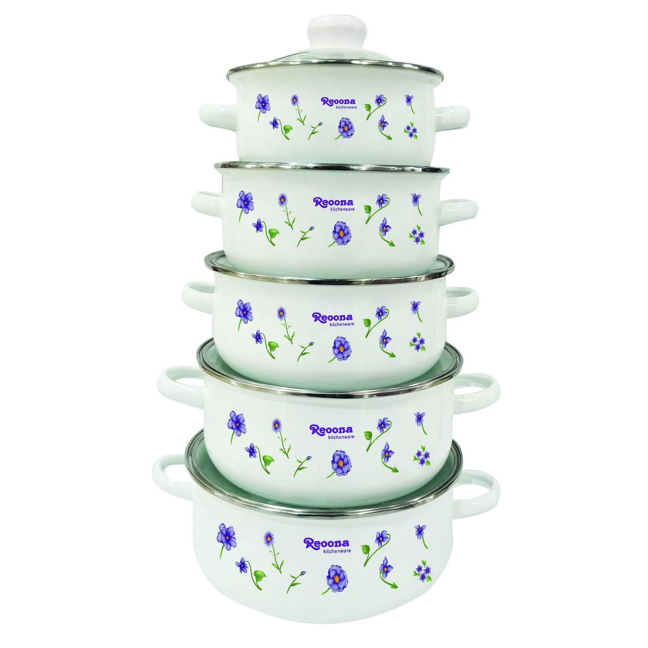 Набор посуды UNIQUE UN-2357 10 пр эмаль