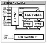 Индикатор графический ЖКИ  с подсветкой QC12864 Желтый, фото 2