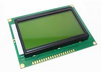 Индикатор графический ЖКИ  с подсветкой QC12864 Желтый