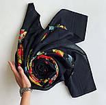 Свадебные ленты 1061-18, павлопосадский платок шерстяной с просновками с подрубкой, фото 5