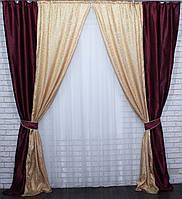 Комбинированные шторы из ткани блекаут. 1.45*2.75м.   е826, фото 1