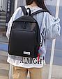 Рюкзак с помпоном 3в1 черный, фото 2