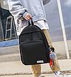 Рюкзак с помпоном 3в1 черный, фото 4