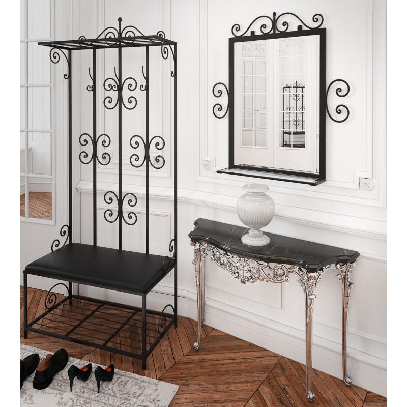 Комплект прихожей Тенеро Тауэр (прихожая, зеркало) Черный
