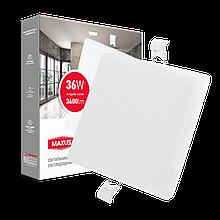 Світильник 36W світлодіодний врізний LED MAXUS SP edge, 4100К (квадрат)