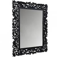 Зеркало навесное Франко с декоративной ажурной рамой чёрное ТМ Миро-Марк, фото 1