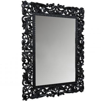 Зеркало навесное Франко с декоративной ажурной рамой чёрное ТМ Миро-Марк