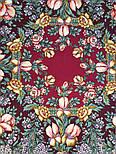 Белой ночи кружевные сны 1844-7, павлопосадский платок шерстяной  с шелковой бахромой, фото 4