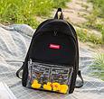 Рюкзак черный с уточками, фото 2