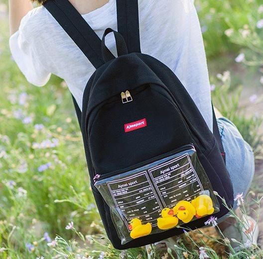 Рюкзак черный с уточками