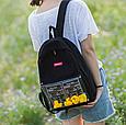 Рюкзак черный с уточками, фото 3