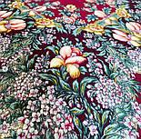 Белой ночи кружевные сны 1844-7, павлопосадский платок шерстяной  с шелковой бахромой, фото 6
