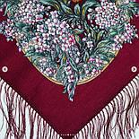 Белой ночи кружевные сны 1844-7, павлопосадский платок шерстяной  с шелковой бахромой, фото 8
