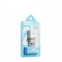 Сетевая зарядка HOCO C22A Little Superior 1USB/2,4A + кабель Lightning  White