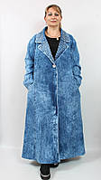 Шикарное джинсовое пальто Турция размер 54 60