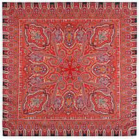 Фергана 1856-5, павлопосадский платок из вискозы с подрубкой, фото 1