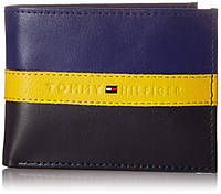 Фирменный кожаный мужской кошелек Tommy Hilfiger бумажник оригинал из США