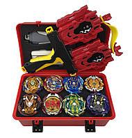 Набор Beyblade Box 8 шт. бейблейд, серия Red Dragon (Dram)