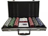 Набір для покеру 300 фішок в металевому кейсі