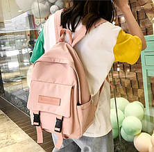 Рюкзак женский нежно розовый