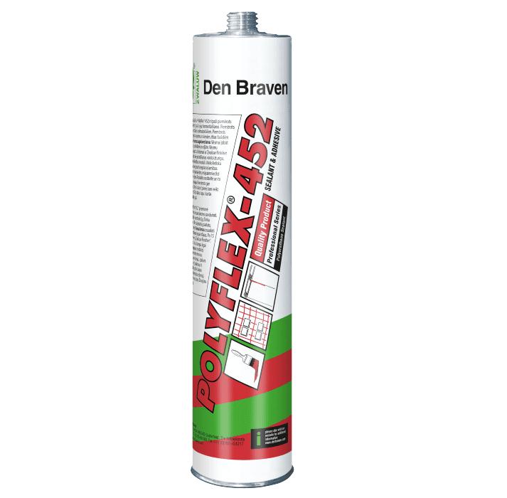 Клей-герметик полиуретановый Den Braven Polyflex-452 310мл (черный-белый-серый)