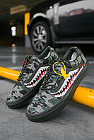 Мужские кеды Bape x Vans Old Skool Green Camo