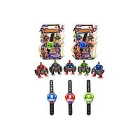 Набор супер героев, Часы супергероев, Фигурки супер героев, Мстители SB 804 (72/2) 3 вида, 3 героя в коробке