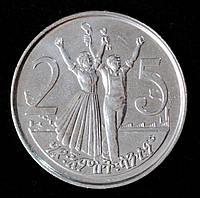 Монета Эфиопии 25 центов 2012 г.