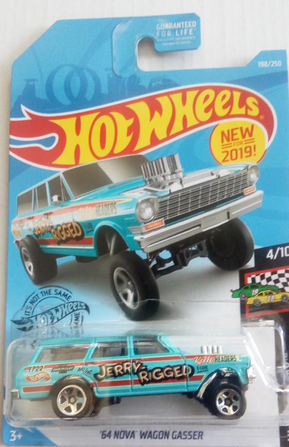 Машинка Hot Wheels 2019 '64 Nova Wagon Gasser