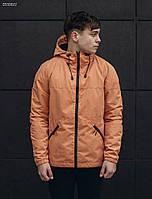 Куртка ветровка мужская с капюшоном Staff se peach
