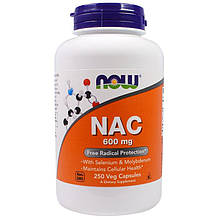 "N-ацетилцистеин NOW Foods ""NAC"" 600 мг (250 капсул)"