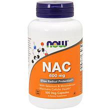 "N-ацетилцистеин NOW Foods ""NAC"" 600 мг (100 капсул)"