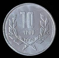 Монета Армении 10 драм 1994 г.